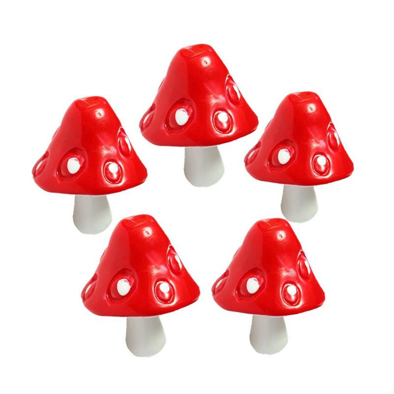 5pcs-de-Setas-de-Decoraciones-en-miniatura-Ornamento-de-Maceta-del-jardin-Rojo-V