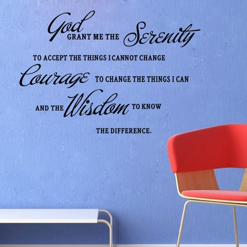 god grant me the serenity prayer bible art quote vinyl wall stickers