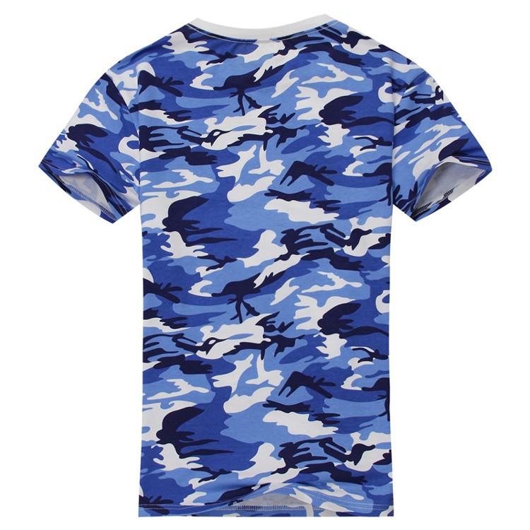 Camiseta-del-camuflaje-informal-del-hombre-Camiseta-de-combate-del-brazo-de-E9K5 miniatura 3