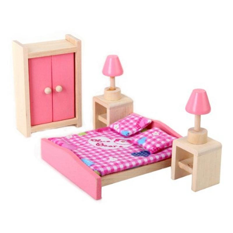 Mini meubles de la Chambre d\'enfants en bois de maison de poupee ...