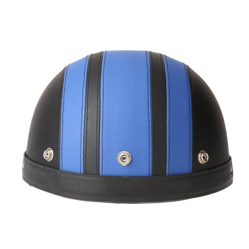 40-60-cm-Demi-Casques-de-Moto-Cuir-avec-Lunettes-de-Vintage-du-Style-de-Garm-7V7 miniature 4