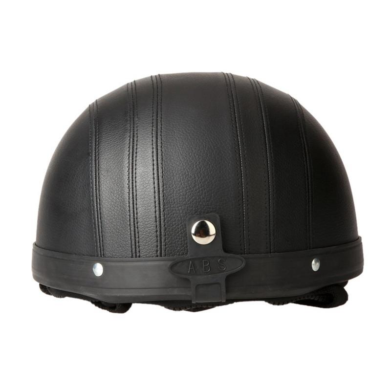 40-60-cm-Demi-Casques-de-Moto-Cuir-avec-Lunettes-de-Vintage-du-Style-de-Garm-7V7 miniature 25