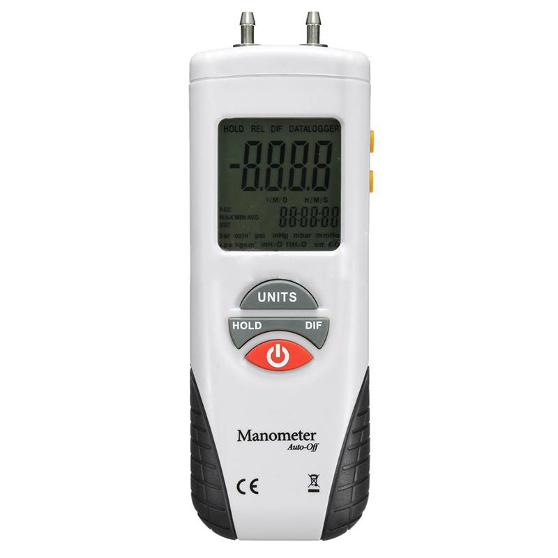 LCD Digital Manometer Differential Gauge Air Pressure Meter Gauge +/-2Psi T9R7