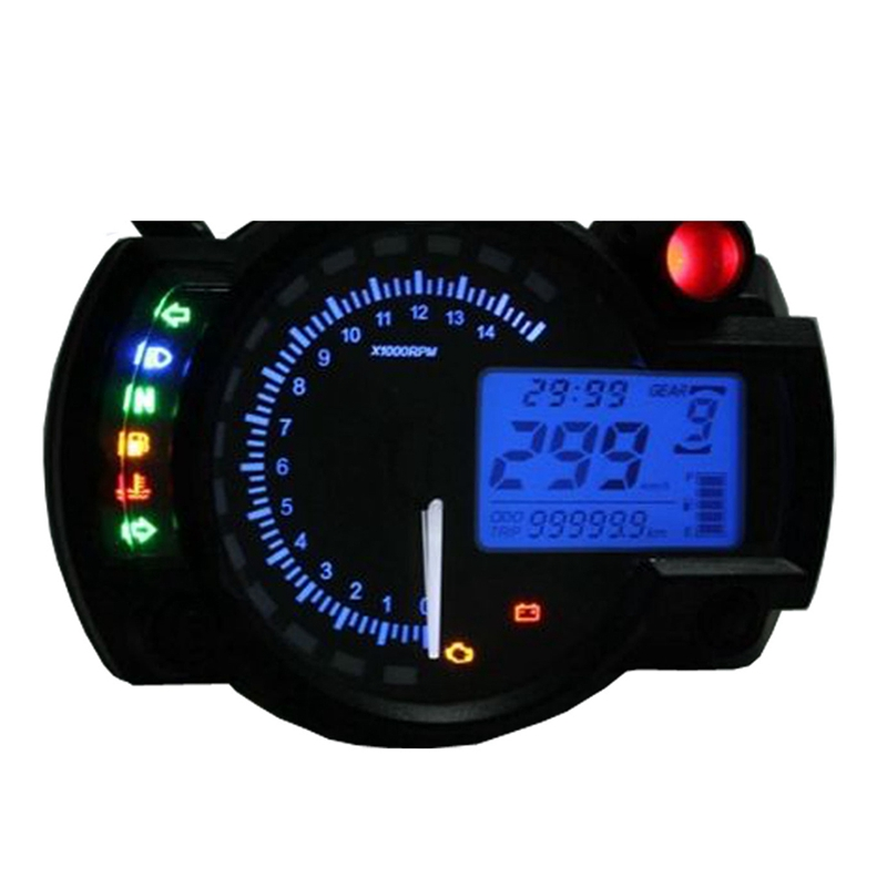 New Lcd Digital Backlight Motorcycle Odometer Speedometer