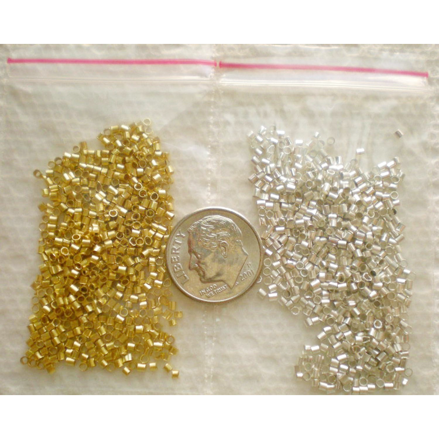 1000 piece mix tube crimp bes for jewelry making for Mixture of gold and silver
