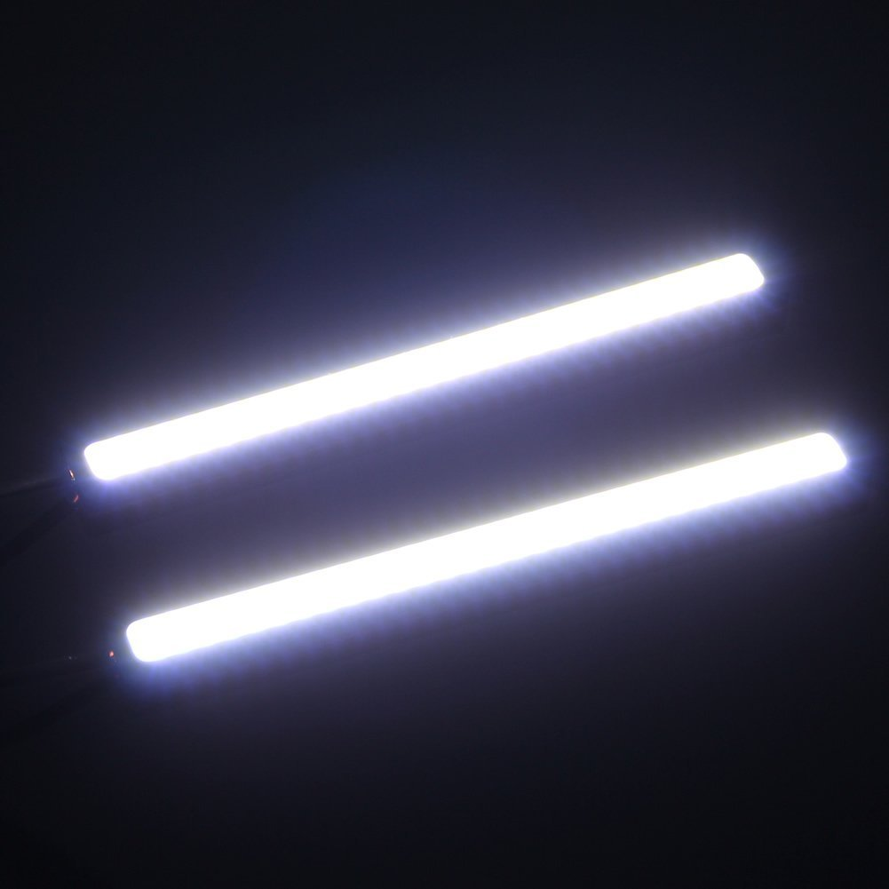 2 stueck led cob auto fahren tag laufen lampe nebel licht. Black Bedroom Furniture Sets. Home Design Ideas