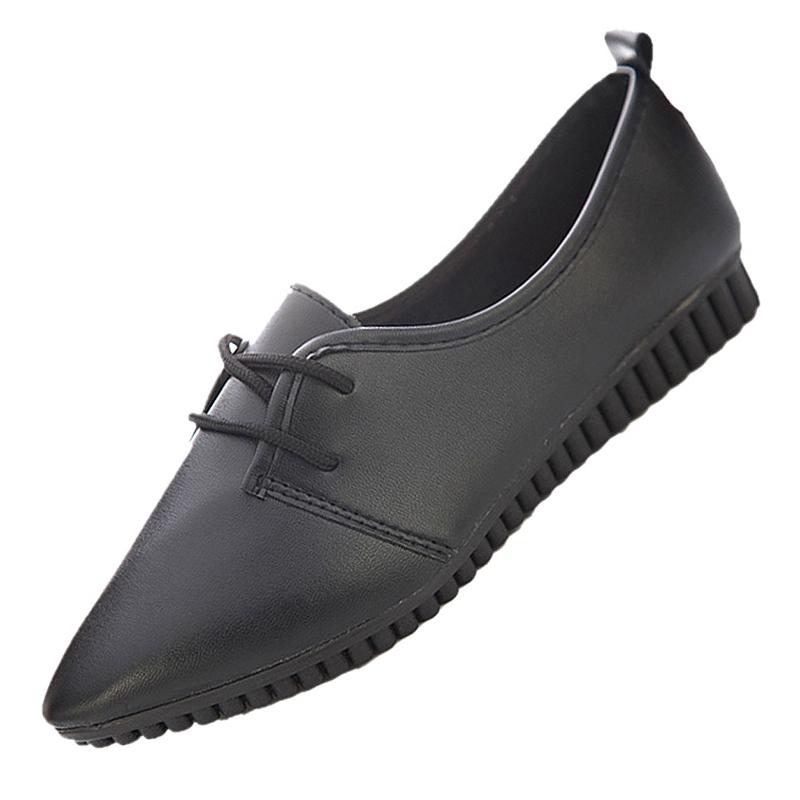 Zapatos-Planos-De-Las-Mujeres-La-Vendimia-Moda-Nueva-Negro-EE-UU-5-EUR36-T3D9