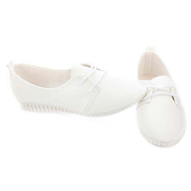 Zapatos-Planos-De-Las-Mujeres-De-La-Vendimia-De-Moda-Nueva-Blanco-EE-UU-6-B5R5 miniatura 3