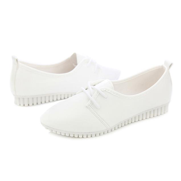 Zapatos-Planos-De-Las-Mujeres-De-La-Vendimia-De-Moda-Nueva-Blanco-EE-UU-6-B5R5 miniatura 4