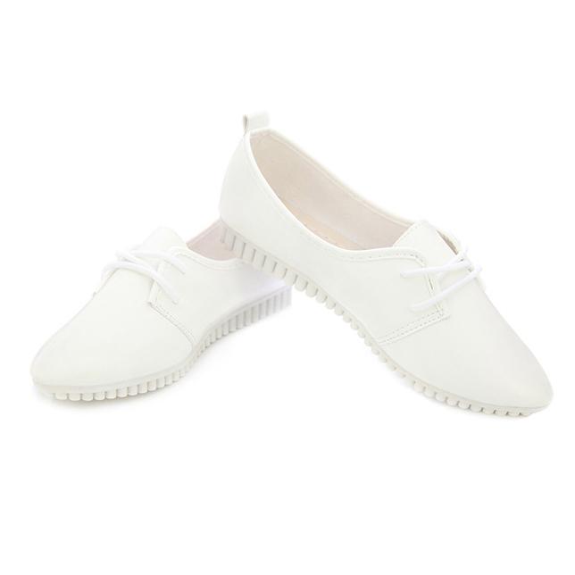 Zapatos-Planos-De-Las-Mujeres-De-La-Vendimia-De-Moda-Nueva-Blanco-EE-UU-6-B5R5 miniatura 5