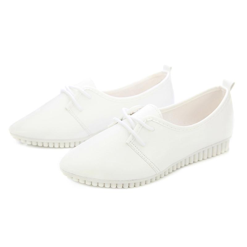 Zapatos-Planos-De-Las-Mujeres-De-La-Vendimia-De-Moda-Nueva-Blanco-EE-UU-6-B5R5 miniatura 7