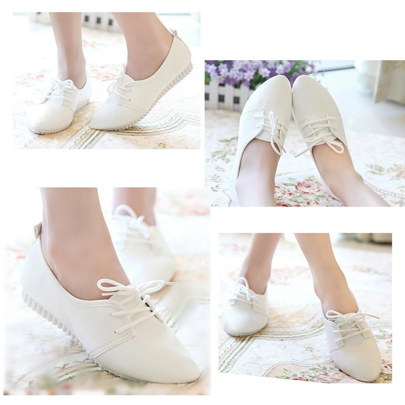 Zapatos-Planos-De-Las-Mujeres-De-La-Vendimia-De-Moda-Nueva-Blanco-EE-UU-6-B5R5 miniatura 8