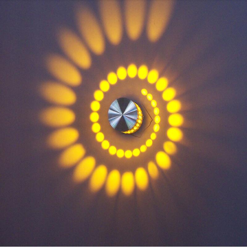 3W-AC85-265V-Applique-murale-Lampe-de-chevet-Lumiere-de-nuit-pour-le-KTV-et-6O6 miniature 3