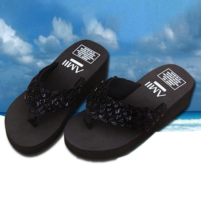 Zapatillas-nuevas-de-mujer-Chanclas-de-playa-con-cunas-plataforma-antidesli-T5A8 miniatura 4