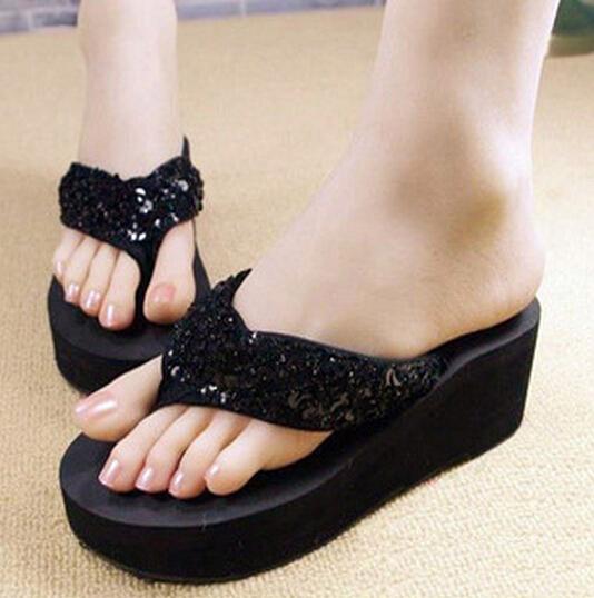 Zapatillas-nuevas-de-mujer-Chanclas-de-playa-con-cunas-plataforma-antidesli-T5A8 miniatura 5