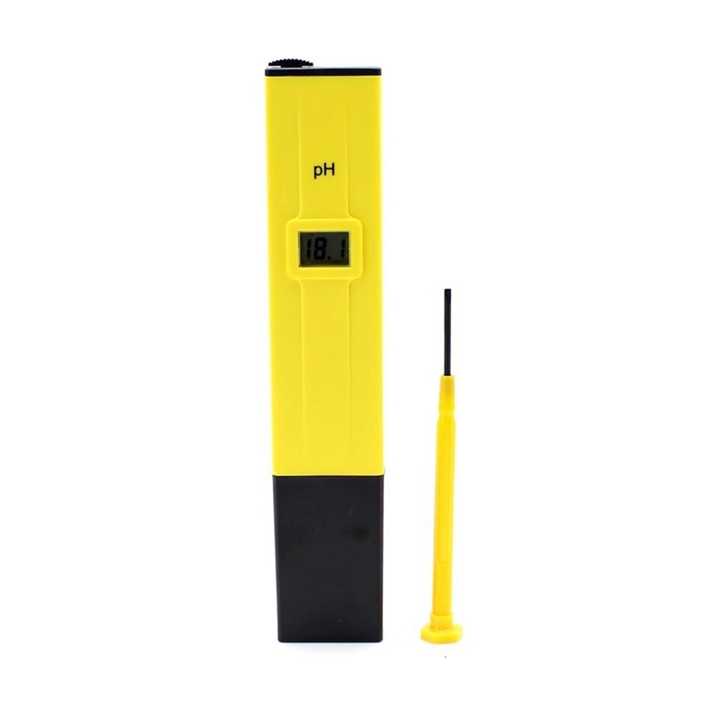 Yellow-With-Black-Ph-Meter-Tester-Screwdriver-Water-LCD-Monitor-Pen-Aquarium-TH