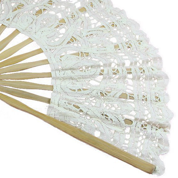 Handmade-Cotton-Lace-Folding-Hand-Fan-for-Party-Bridal-Wedding-Decoration-N2F4 thumbnail 5