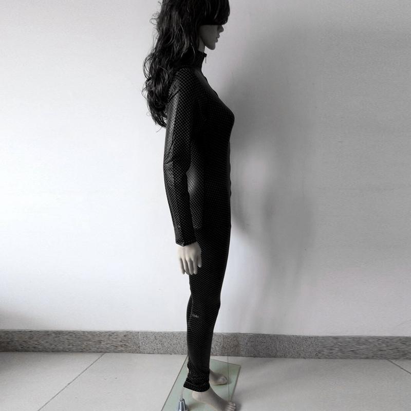 Mono-leotardo-para-mujer-sexy-negro-escenario-gotico-Traje-de-gatito-falso-cuero