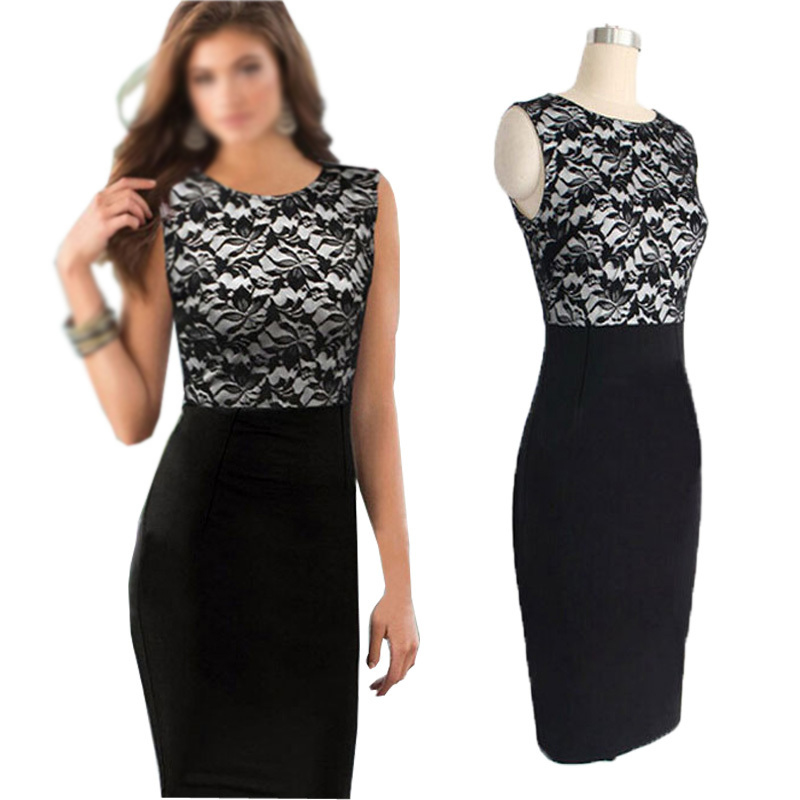 7406f02e75 5X(Vestidos OL elegantes para las senoras Vestido de Almazuelo de encaje de  H8A5