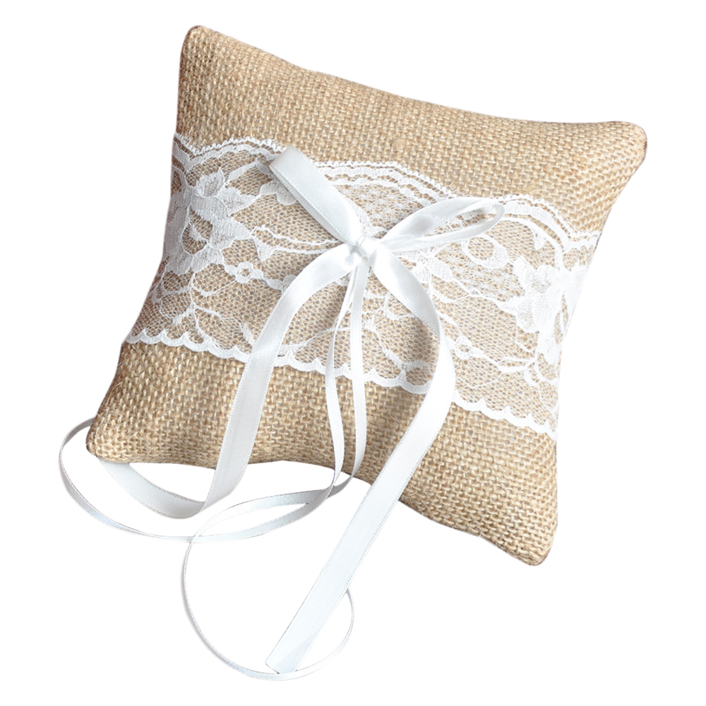 wedding kneeling a ivory pillow matching pillows set and ring new of