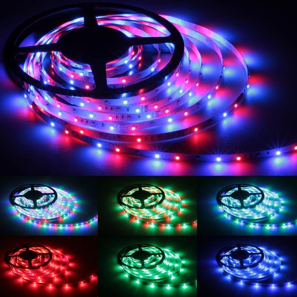 5m rgb farbwechsel led lichtkette mit 44 key fernbedienung de j6x9 ebay. Black Bedroom Furniture Sets. Home Design Ideas