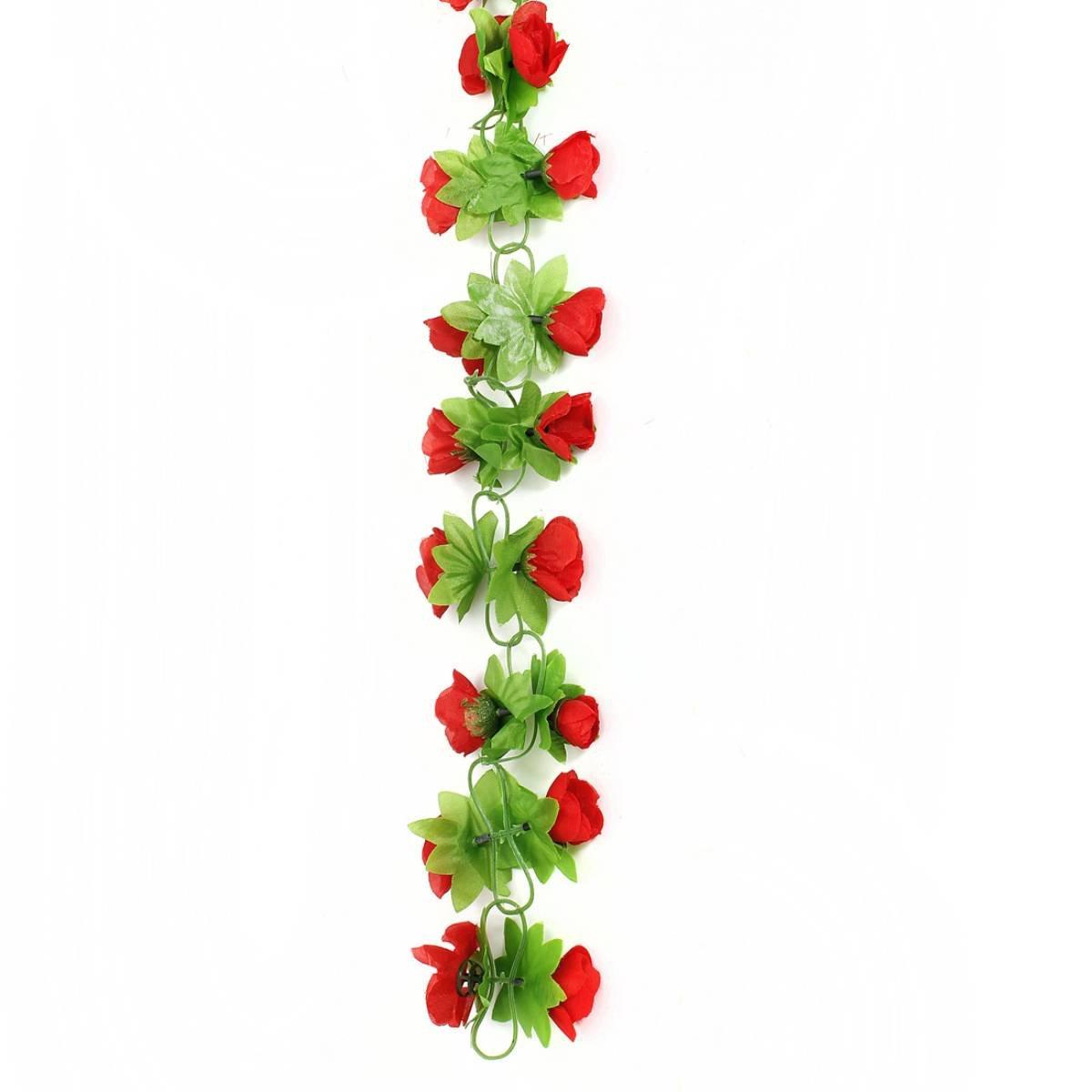 fleurs artificiels guirlande de fleurs artificielles sur le mur jardin de fete ebay. Black Bedroom Furniture Sets. Home Design Ideas