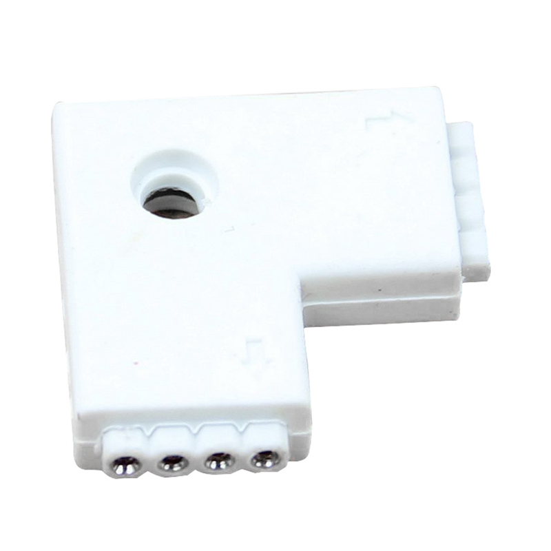 Lighting Accessories High Quality 1pc L-shaped Rgb 4 Pins Female Connector Adapter For 3528 5050 Led Strip Light Connectors