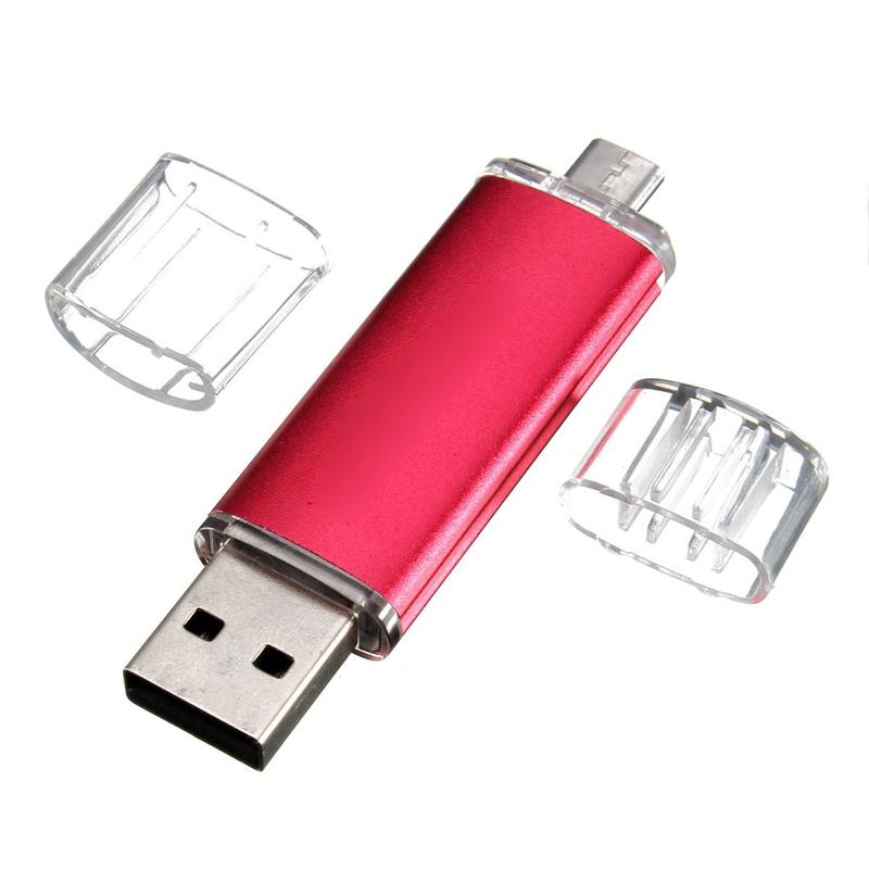 32GB-USB-Speicherstick-OTG-Mikro-USB-Flash-Drive-Handy-PC-Rote-B8M7 Indexbild 3
