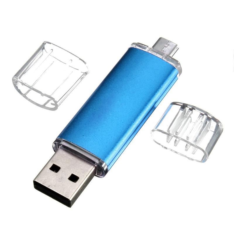 Memoria-USB-OTG-mini-USB-Unidad-flash-movil-PC-Azul-Z6P9 miniatura 3