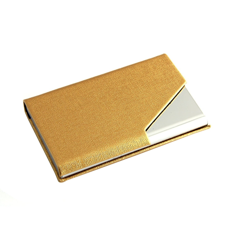 D6 business name card holder luxury pu leather stainless steel picture 2 of 5 reheart Image collections