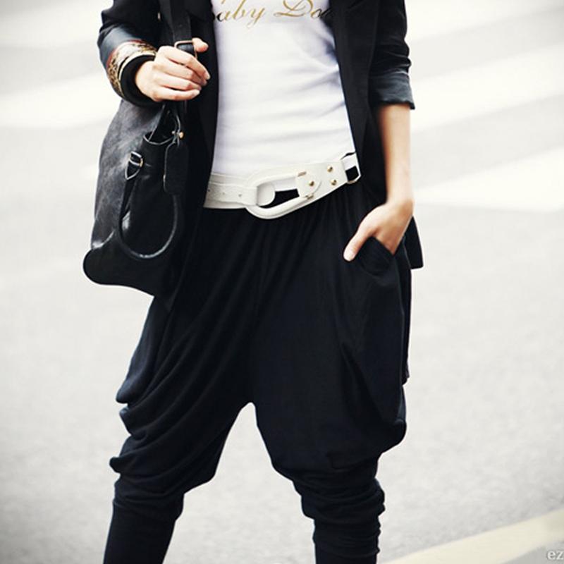 Pantalones Harem ocio suelto hip hop holgado estilo callejero ... d368e1f4468