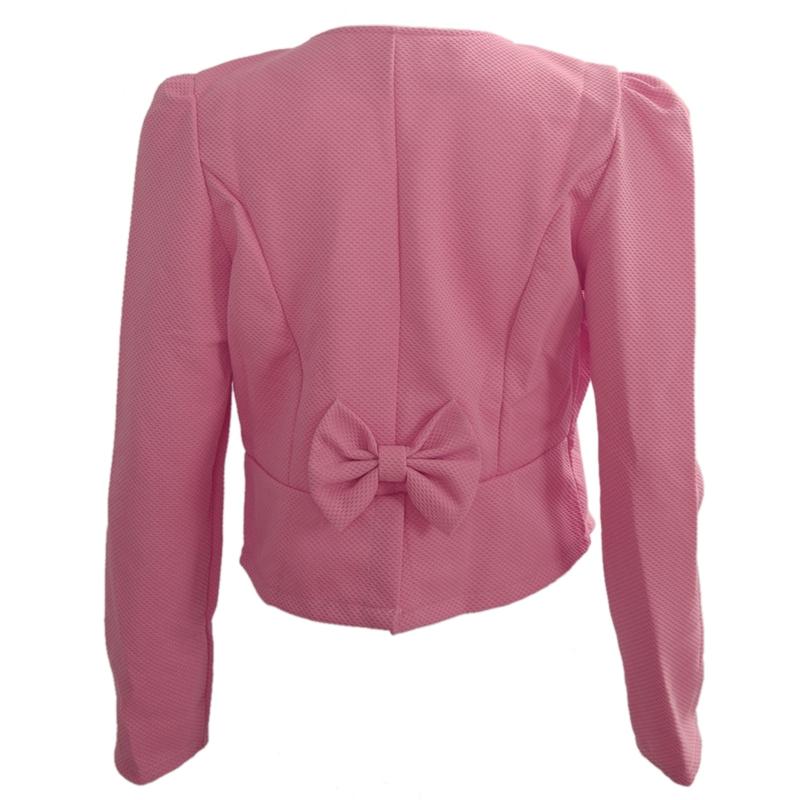 1X-Chaqueta-delgada-de-moda-de-mujer-Traje-de-Blazer-de-manga-larga-Abrigo-A9S8 miniatura 3