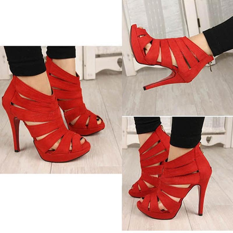 Sandalias-de-tacon-alto-de-mujer-Zapatos-Zapatillas-de-plataforma-de-dedo-del-p1 miniatura 4