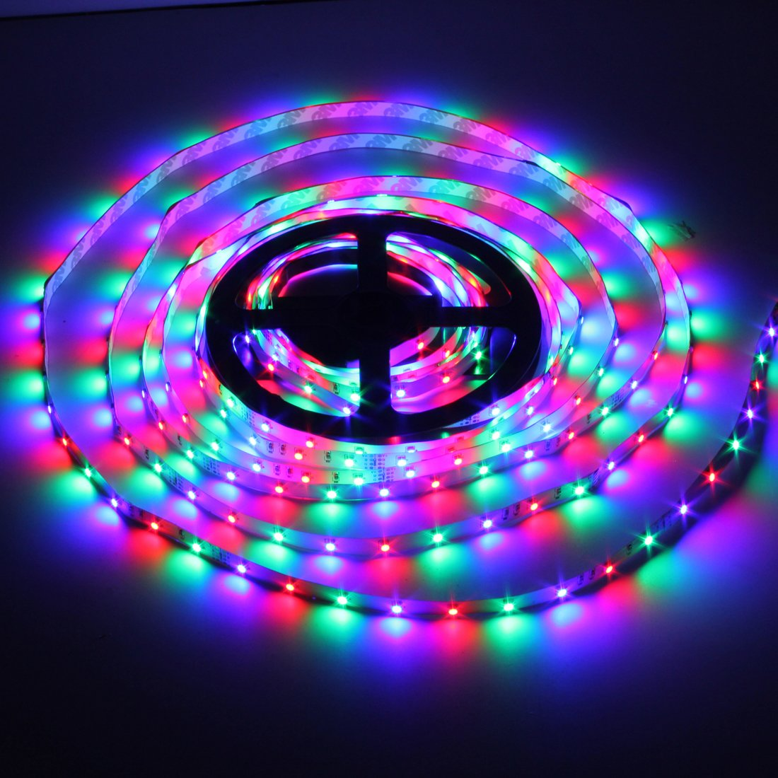 44 key remote control rgb led strip 5m 3528 300 smd stripe. Black Bedroom Furniture Sets. Home Design Ideas