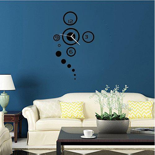 zuhause wanduhr modernes design grosse spiegel wohnzimmer. Black Bedroom Furniture Sets. Home Design Ideas