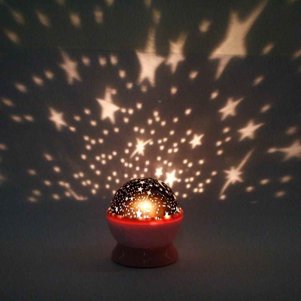 New Rotation Night Projector Light Lamp Star Sky Romantic Fairy U3j8