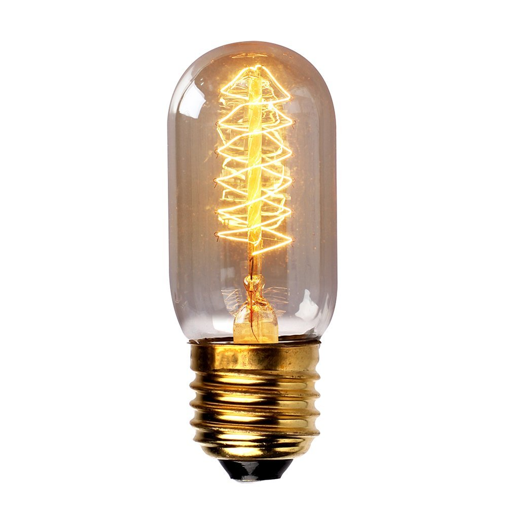 Filament Light Bulb Tungsten Light(T45 40W 220V Spiral Filament) YESO