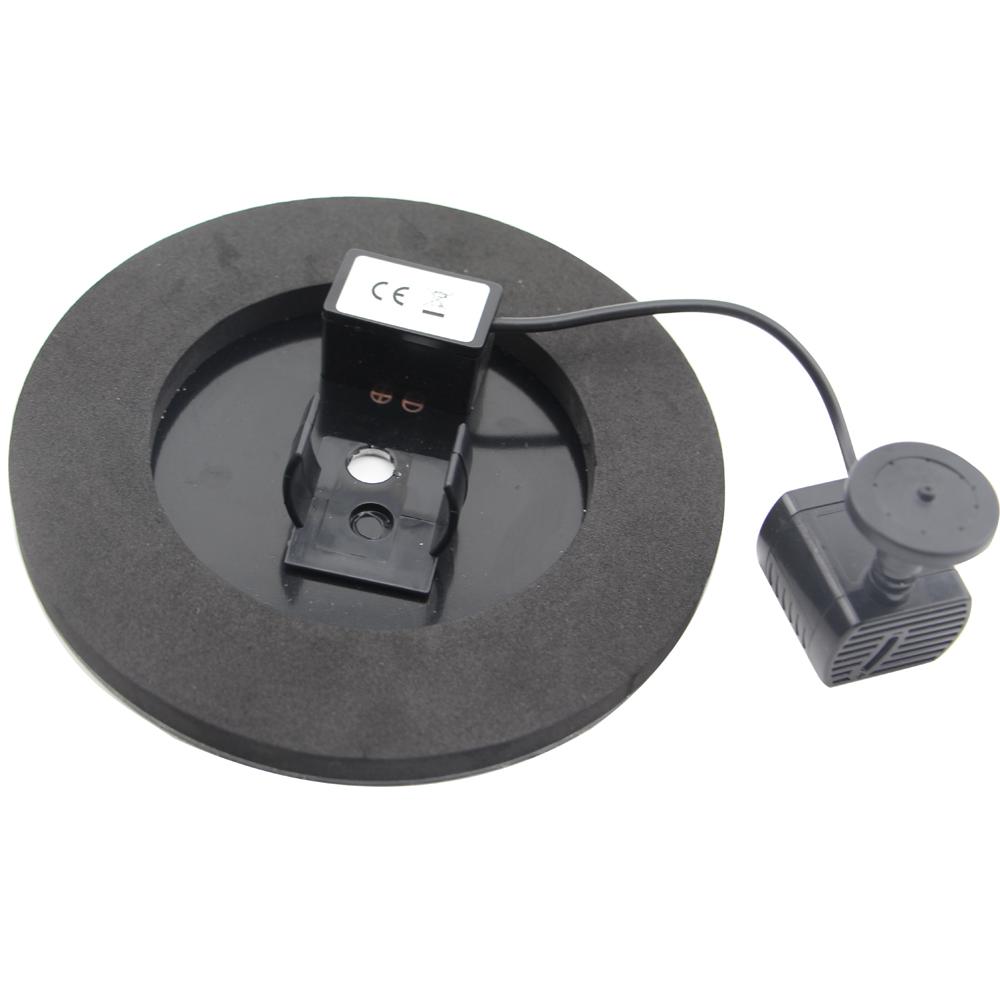 cf002 schwimmender solarbrunnen solarpumpen fuer vogelbad l6t5 ebay. Black Bedroom Furniture Sets. Home Design Ideas