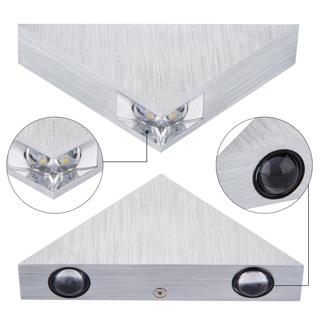 3w moderne weiss led wandbeleuchtung wandleuchte aluminum for Moderne wandbeleuchtung