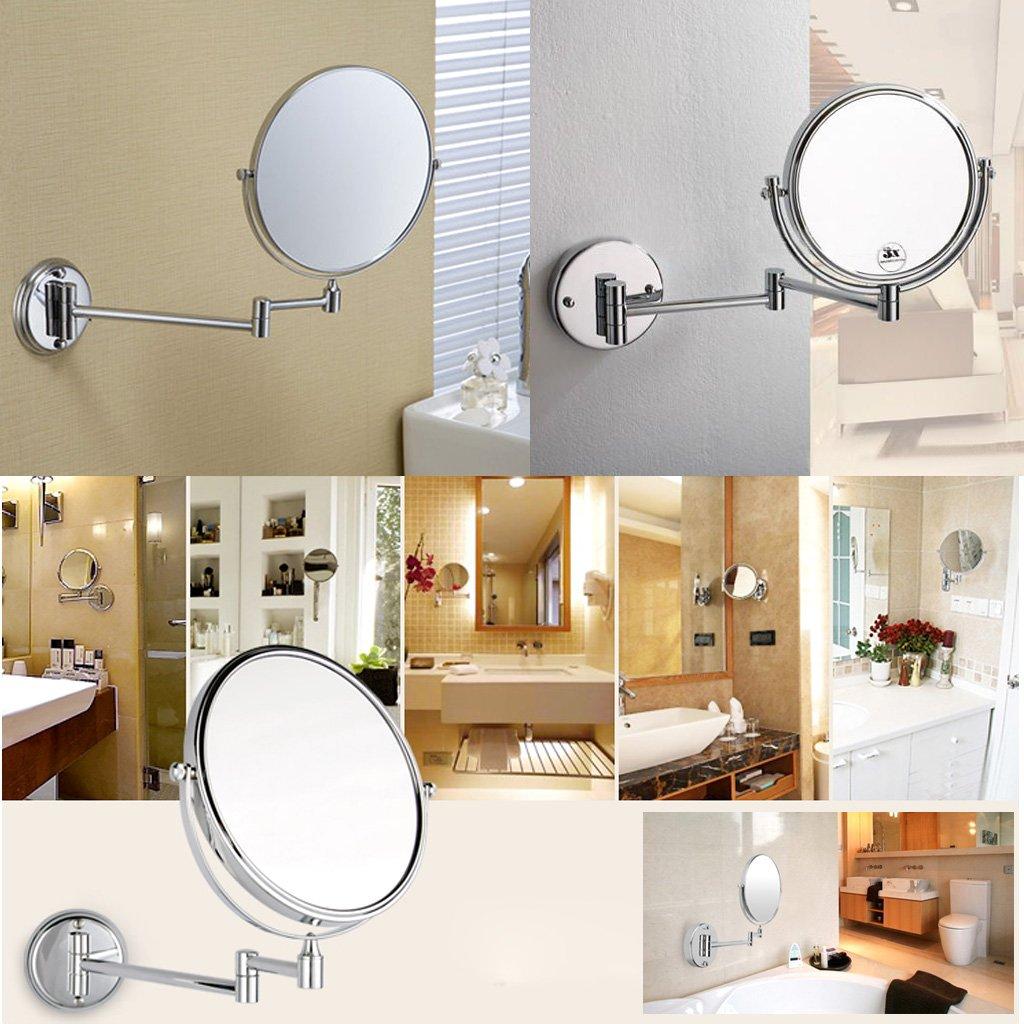 P72 redondo cromo 8 espejo de pared espejo de vanidada for Espejo redondo pared