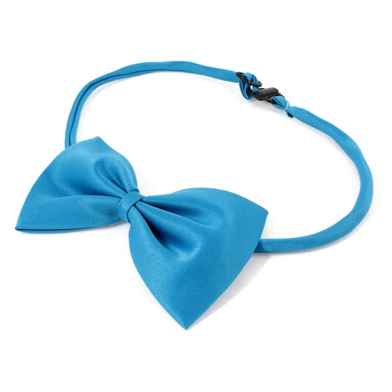 2-Piezas-Ajustable-Perro-Perrito-Collar-Corbata-de-lazo-Pajaritas-Dodger-Azul-D6