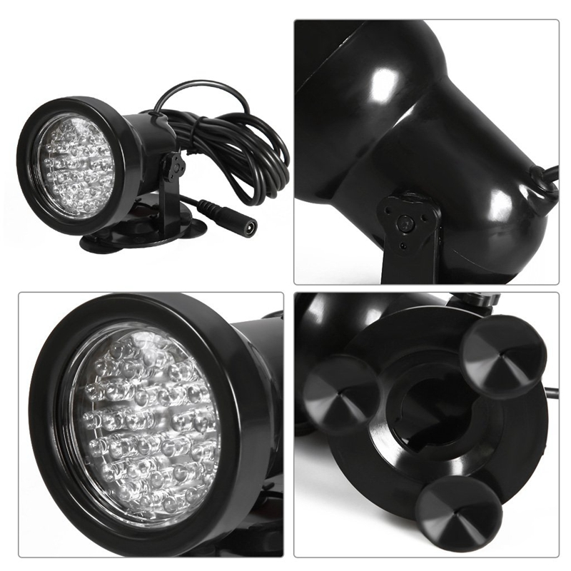 2PCS-36-LED-Faerbige-Teichbeleuchtung-Unterwasser-Aquarium-Teich-Strahler-L-Q3G5