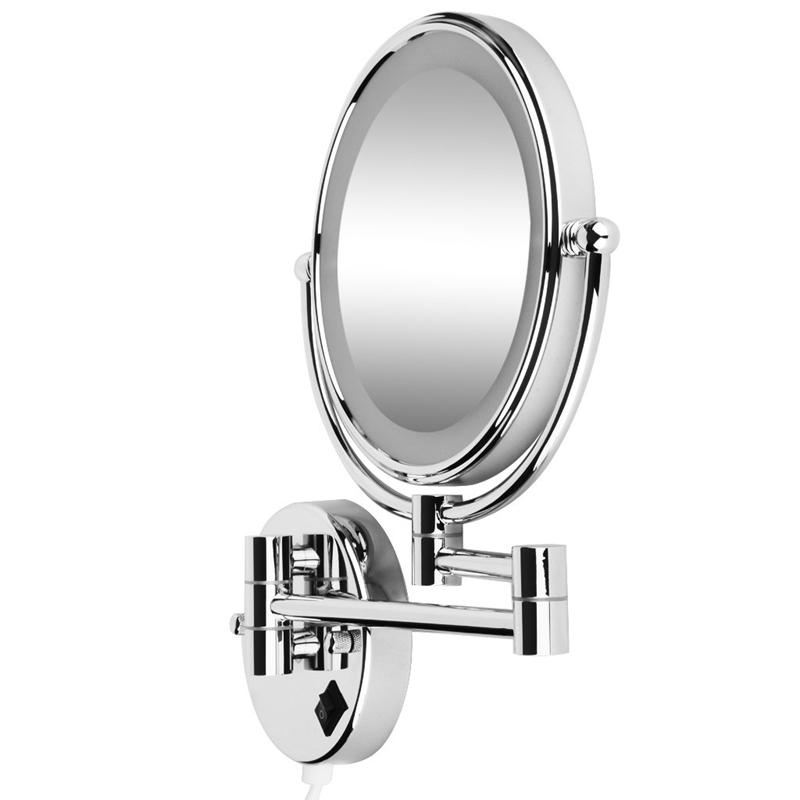 8 Pouces Led Miroir Mural Grossissant Lumineux Extension Pliant