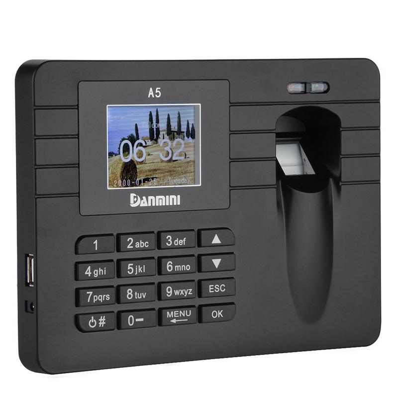 Danmini-sistema-di-registrazione-Time-di-impronte-digitali-Con-schermo-TFT-R3E7