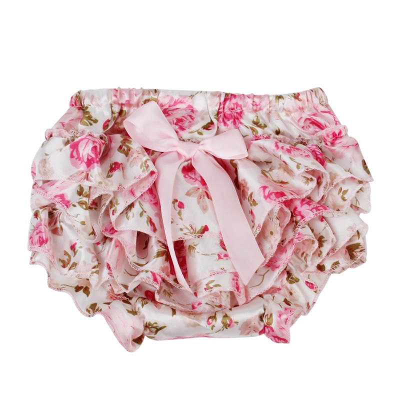 US/_ Baby Girls Bowknot Pettiskirt Ruffle Panties Briefs Bloomer Diaper Cover Nov