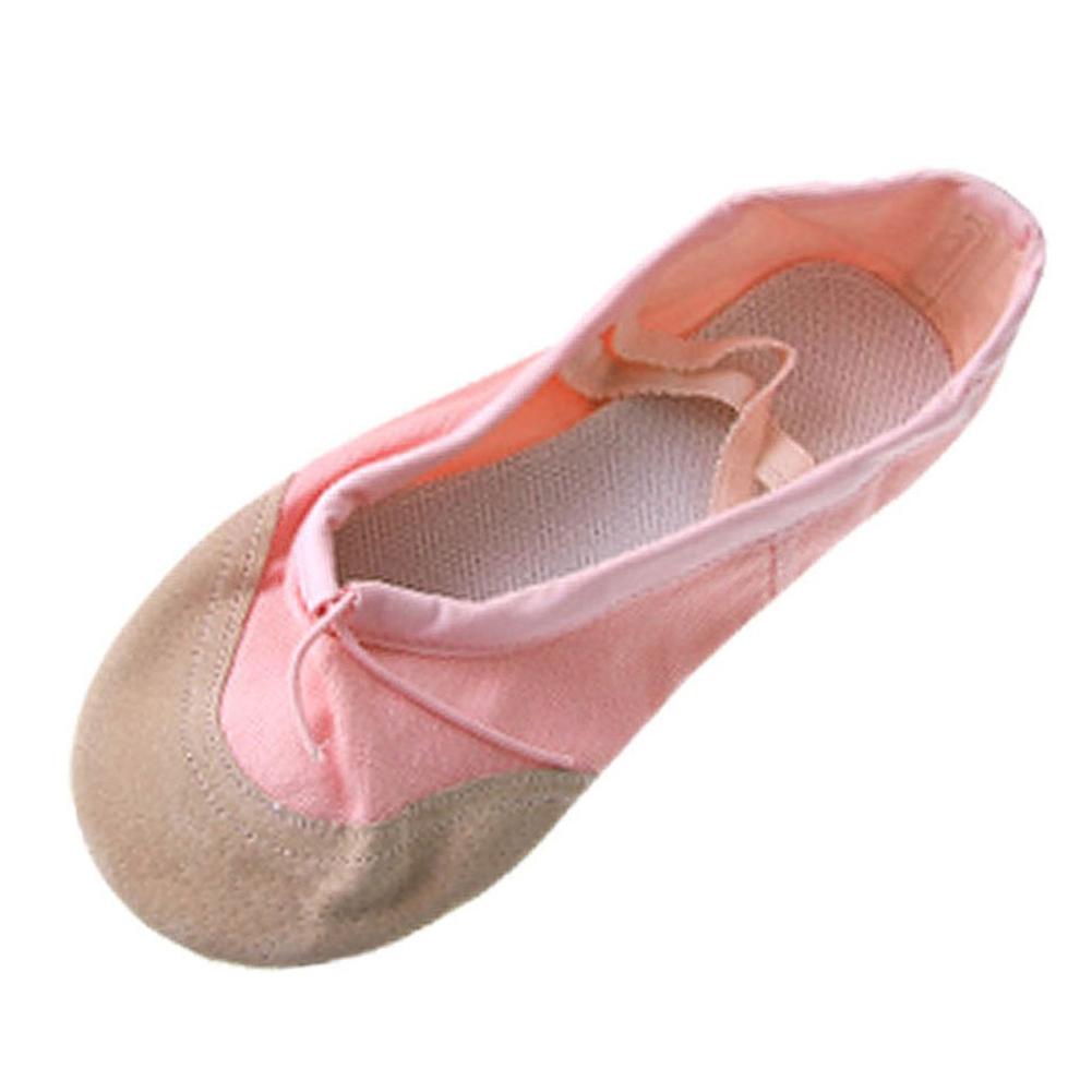 tanzen ballett maedchen rosa weiche segeltuch schuhe us. Black Bedroom Furniture Sets. Home Design Ideas