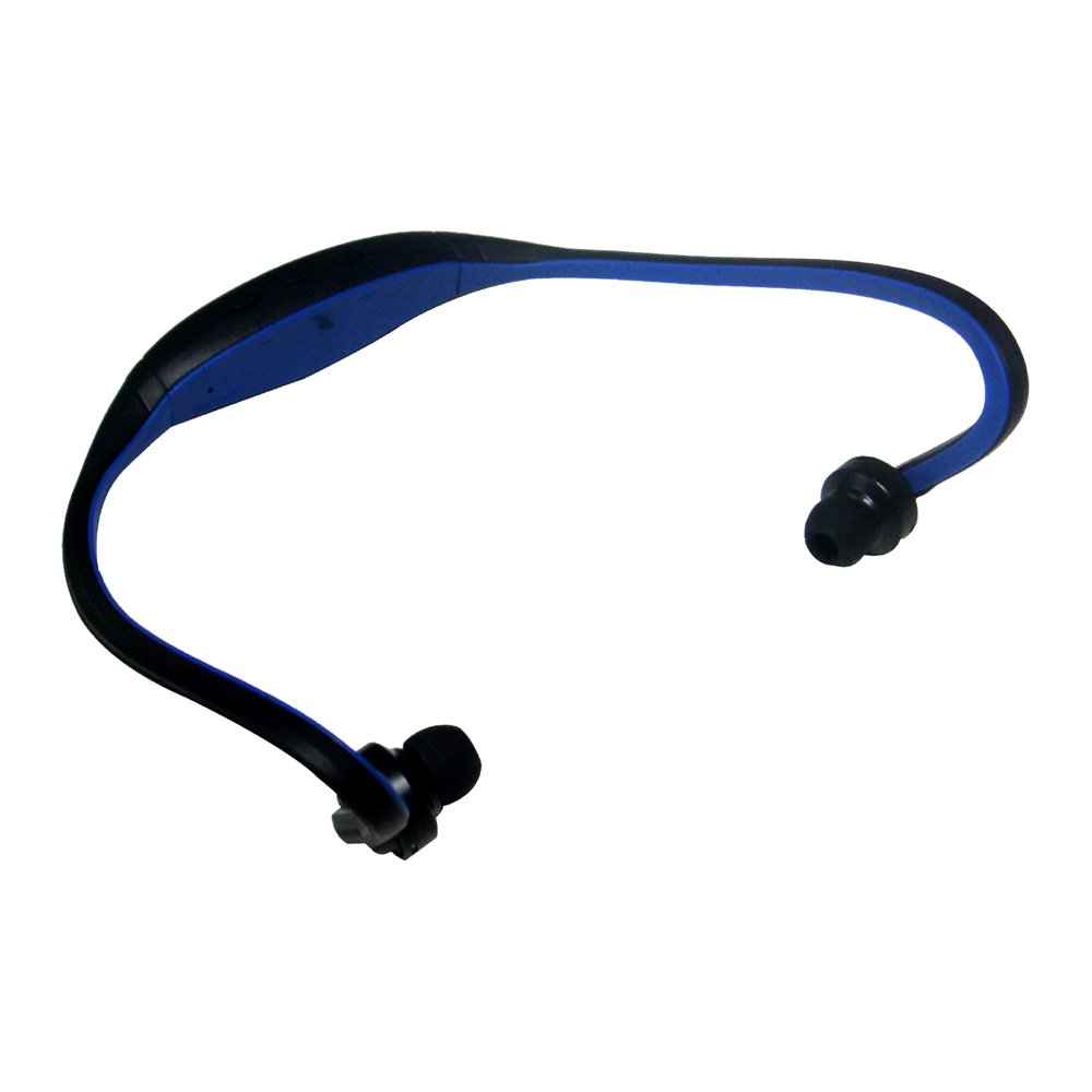 sports wireless bluetooth headset headphone for cell phone pc blue y5j2 ebay. Black Bedroom Furniture Sets. Home Design Ideas