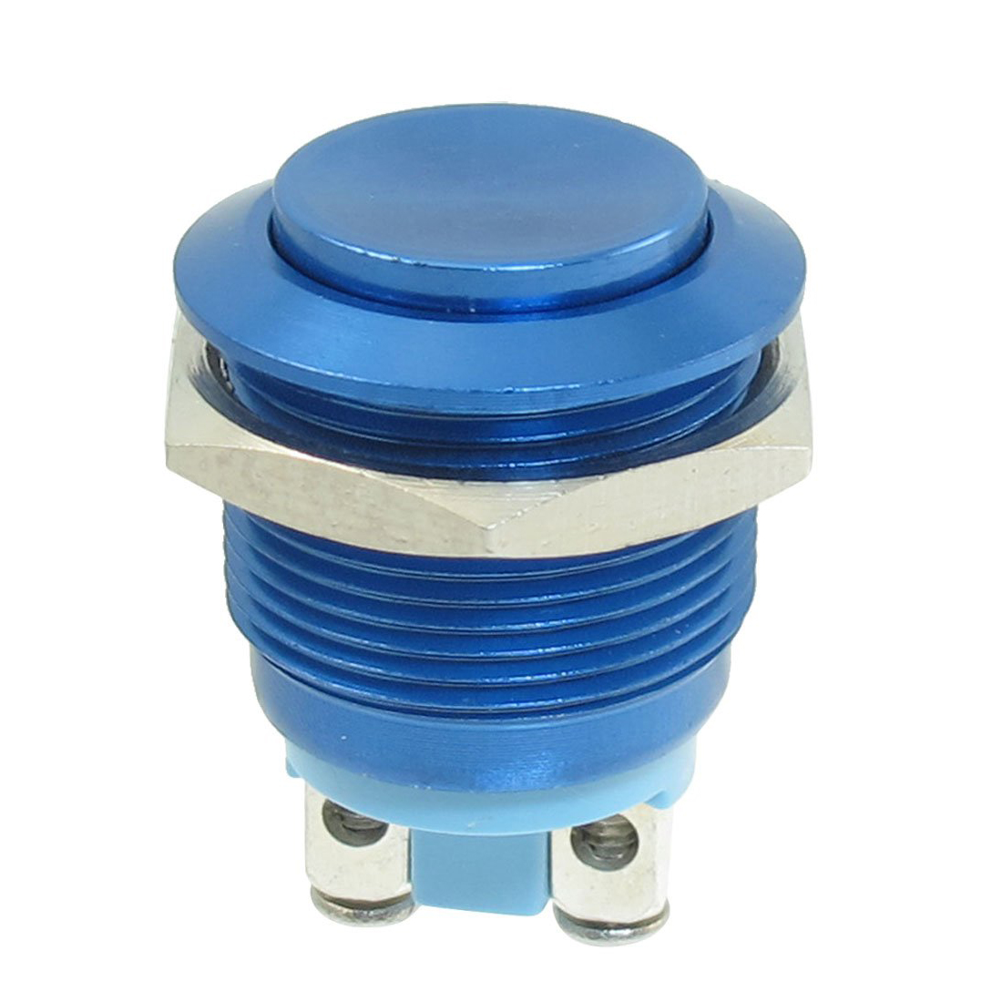 19mm Thread Momentary Stainless Steel Round Push Button Switch 250v On Off Relay Type Spst Contact 2 Screw Terminals This Metal Is Suitable For Diameter Mounting Hole
