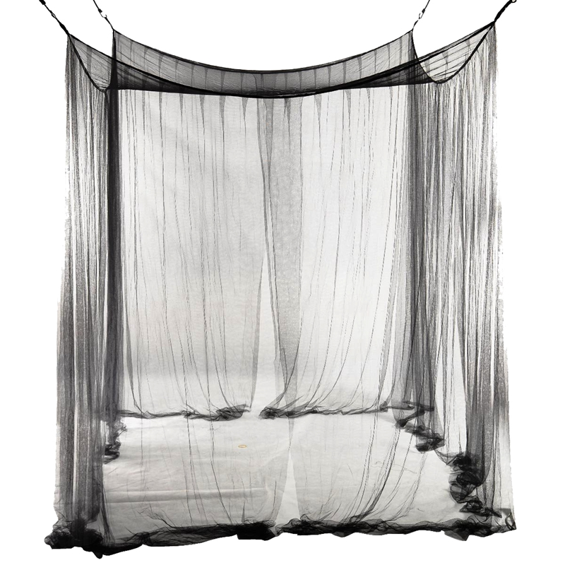 4-Corner Bed Netting Canopy Mosquito Net for Queen/King Sized Bed 190*210*2 B8J4