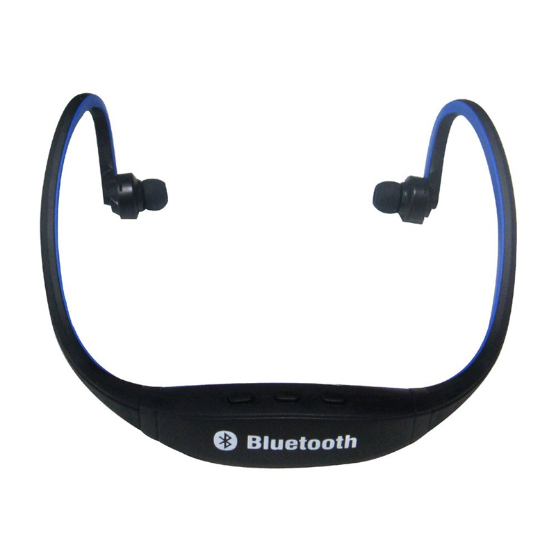 sports casque bluetooth sans fil casque pour telephone portable pc bleu e3n5 ebay. Black Bedroom Furniture Sets. Home Design Ideas